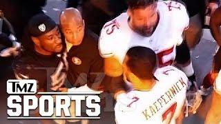 getlinkyoutube.com-Colin Kaepernick -- Halftime Showdown with Raiders LB ... 'I'm Coming for You'