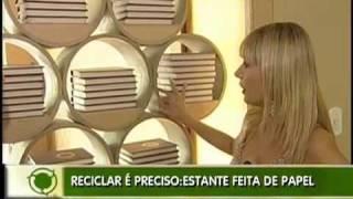 Móveis de luxo feito de papel