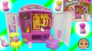 Fashion Spree Style Me Wardrobe Playset with 6 Exclusive Season 5 Shopkins - Cookieswirlc Video