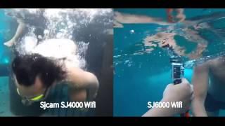 getlinkyoutube.com-SJ6000 Wifi VS Sj4000 wifi Underwater