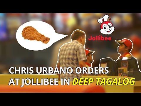 Chris Urbano orders at Jollibee in deep Tagalog