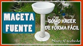 getlinkyoutube.com-CÓMO HACER MACETA FUENTE DE CEMENTO