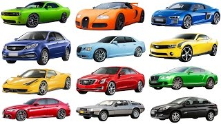 A to G | Brand of cars names of cars transportation for kids. Street vehicles names cars for kids