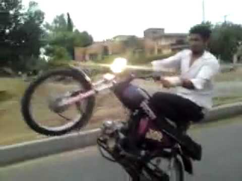 Bike Wheeling Ka INJAAM....Wheel Accident Watch Video