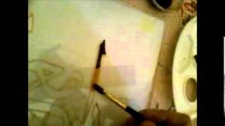 رسم الآية بالصباغة