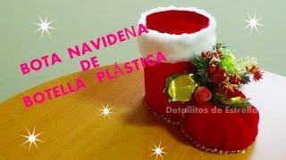 getlinkyoutube.com-BOTA NAVIDEÑA CON BOTELLA PLASTICA