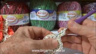 getlinkyoutube.com-Aprenda a fazer: Jogo Americano em crochê BIG artes.com.br