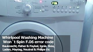 getlinkyoutube.com-Whirlpool Washing Machine Won´t Spin F06 error code fault