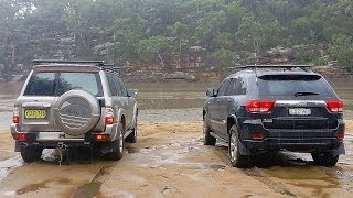 getlinkyoutube.com-Jeep Grand Cherokee WK2 vs Nissan Patrol GU