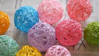 getlinkyoutube.com-可愛いお部屋に!コットンボールライトの作り方。  how to make cotton balls