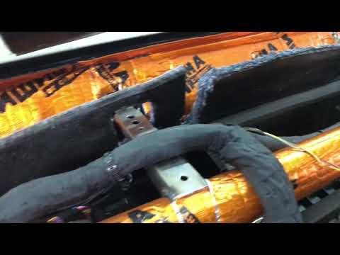 УАЗ Патриот антискрип торпедо, вибро-шумоизоляция панели и моторного щита со стороны салона