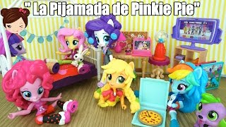 getlinkyoutube.com-My Little Pony Equestria Minis  Serie - La Pijamada de Pinkie Pie - Juguetes MLP