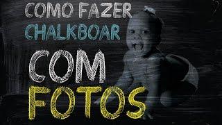 getlinkyoutube.com-Fazer Chalkboard [ COM FOTO ] Curso Kit Arte Digital Profissional