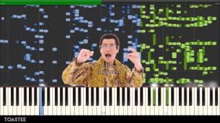 getlinkyoutube.com-Pen Pineapple Apple Pen on the Piano? (MIDI) (PPAP)