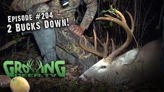 getlinkyoutube.com-Amazing Whitetail Bow Hunts: Doubling Up On Bucks And Does
