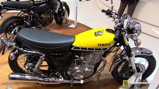 getlinkyoutube.com-2016 Yamaha SR400 60th Anniversary - Walkaround - 2015 EICMA Milan