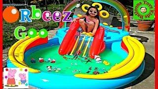 getlinkyoutube.com-Orbeez Crush Monster Goo Paddling Pool Surprise Toys Peppa Pig Big Hero 6 Spiderman Disney Frozen