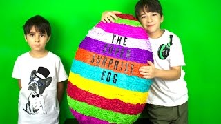 getlinkyoutube.com-OPENING THE BIGGEST SURPRISE EGG IN THE WORLD! - SO EPIC!!!!