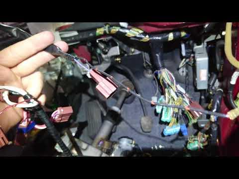 Как выглядит штатная проводка противотуманок Honda cr-v RD1