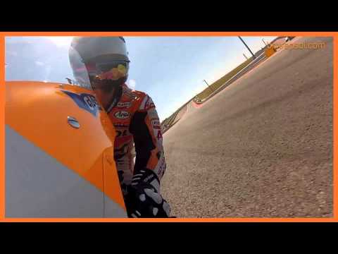 On board en la moto de Pedrosa y Marc Mrquez al Circuito de las Amricas 2013