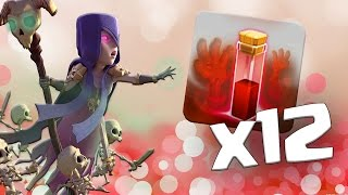 ALL LEVEL 3 WITCH and SKELETON SPELL Attack!!   MASS Larry Raids!  Clash of Clans