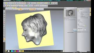 getlinkyoutube.com-Creating a 3D relief from a photo using the Face Wizard tool in ArtCAM Insignia