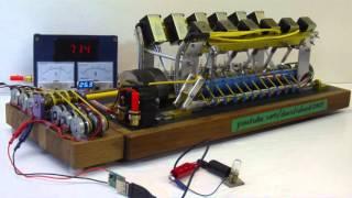 getlinkyoutube.com-Solenoid Engine Generator Set Powers Various Devices