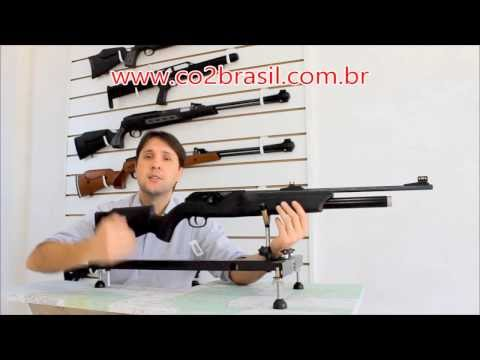 Rifle de 300 Bar Carabina Walther Dominator 1250 FT PCP 5,5mm 100 tiros