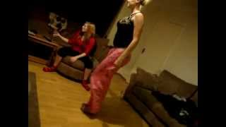 getlinkyoutube.com-Drunk girls trying to pull each others pants down