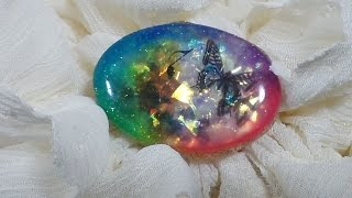 UVレジン キャンドゥ シリコン型で虹色モチーフを作るよ(*´▽`*) resin
