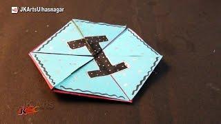 getlinkyoutube.com-Hexagon Endless Card for Scrapbook | How To Make An Endless Love Valentine Card | JK Arts 1019