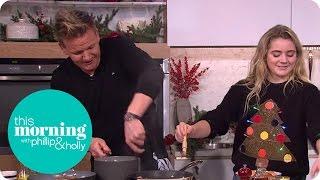 getlinkyoutube.com-Gordon and Matilda Ramsay Cook a Christmas Breakfast   This Morning
