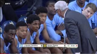 getlinkyoutube.com-#2 North Carolina vs Notre Dame 2016 (Basketball Full Game)