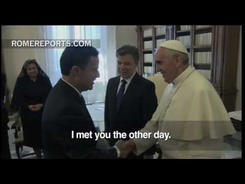 Pope meets with Colombia's President  Juan Manuel Santos