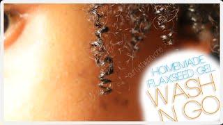 Homemade Flaxseed Gel Wash N Go | Naturally Curly Hair