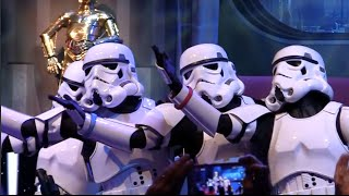 Star Wars Weekend - Stormtroopers sing 'Let It Go' from Frozen and other songs