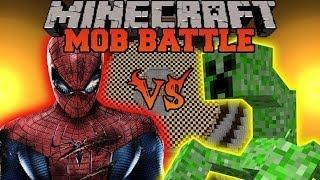 getlinkyoutube.com-MUTANT CREEPER VS SPIDERMAN - Minecraft Mod Battle - Mob Battles - Superheroes Mutant Creatures Mods