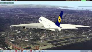 getlinkyoutube.com-X-Plane 10: stunning scenery, landing an A388 at LPPT