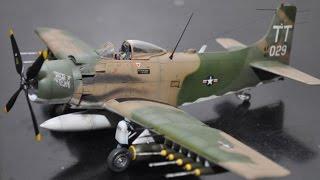 getlinkyoutube.com-Douglas Skyraider A-1J 1/48 Tamiya Build