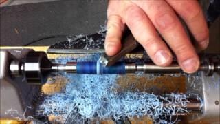 getlinkyoutube.com-Bullet Pen with Blue Acrylic Blank