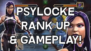 Psylocke Rank Up & Gameplay! - Marvel Contest Of Champions