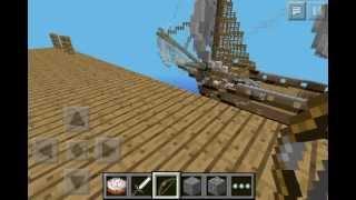 getlinkyoutube.com-Huge Pirate Ship in Minecraft Pocket Edition