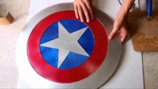 getlinkyoutube.com-#44: Captain America's Shield DIY 2/2 - Hot Glue + 'Cardboard' (PDF template) | How To | Dali DIY