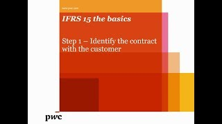 PwC's IFRS 15 the basics – Want to identify a contract under IFRS 15?