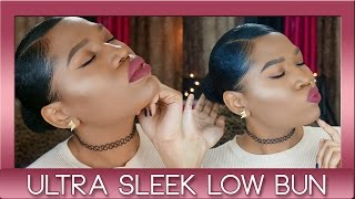 getlinkyoutube.com-Ultra Sleek Bun | On Natural Hair
