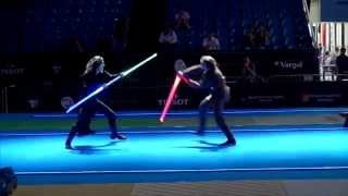 getlinkyoutube.com-Star Wars duel on Fencing World Championships. BEST SOUND
