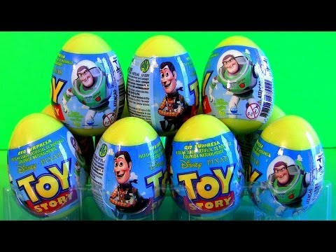 12 Toy Story Surprise Eggs Easter Egg Unboxing Toys Review Disney Sheriff Woody & Buzz Lightyear
