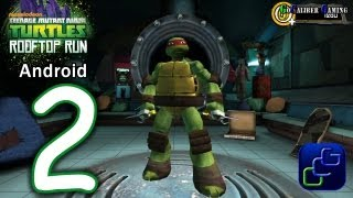 getlinkyoutube.com-TMNT ROOFTOP RUN Walkthrough   Part 2 Raphael gameplay and KRAANG Boss Battle