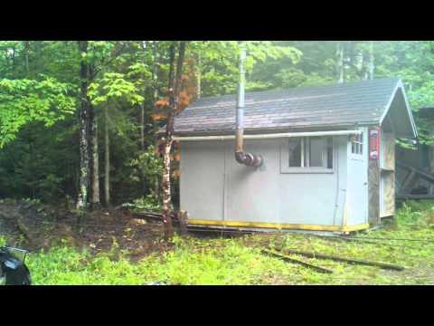 Yooper fun, sauna relocation 3 of 3