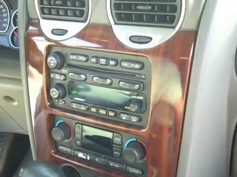 How to GMC Envoy Bose car Stereo radio Removal replace repair